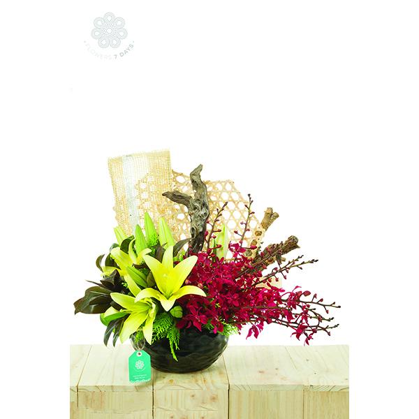 Hoa để bàn tiếp khách