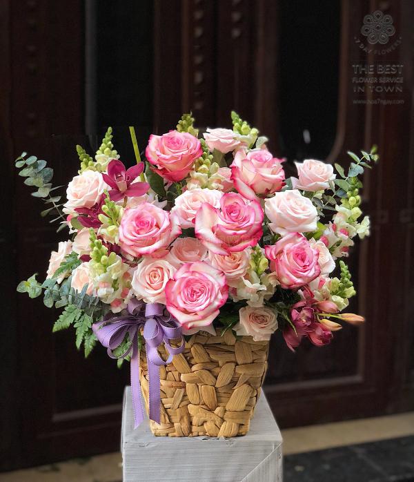 Chọn ngay dịch vụ hoa định kỳ của Hoa 7 Ngày