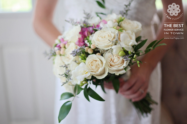Những loại hoa thường được chọn làm hoa cưới - Hoa 7 Ngày