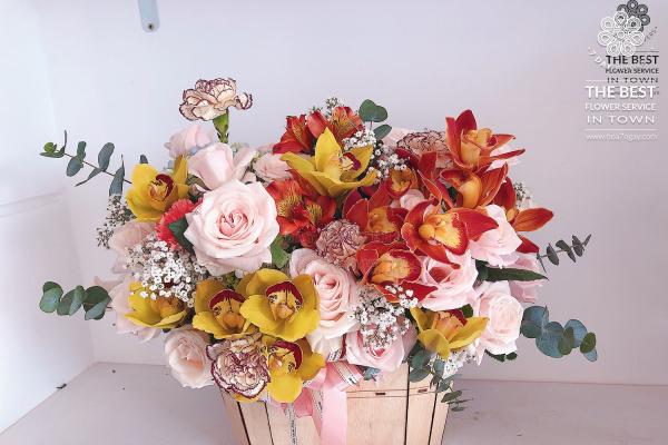 Mua hoa văn phòng đẹp, giá rẻ tp.hcm ở đâu? Hoa 7 Ngày
