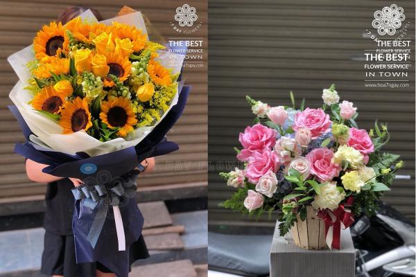 Làm sao đặt hoa tươi online rẻ tp.hcm, Hoa 7 Ngày