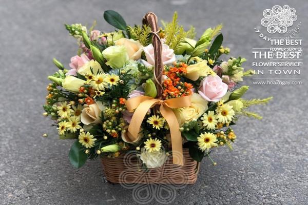 Shop hoa online quận 4| Chất lượng, đẹp, giá rẻ TP.HCM- Hoa 7 Ngày